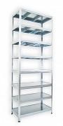 Steckregal verzinkt 35 x 90 x 270 cm - 8 Metalböden x 120 kg