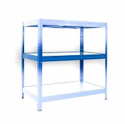 Komplette Fachboden für Metallregal, 35 x 90 cm - blau, 120 kg pro Boden