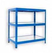 Steckregal blau 35 x 75 x 90 cm - 3 Metalböden x 120 kg