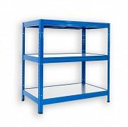 Steckregal blau 60 x 90 x 90 cm - 3 Metalböden x 120 kg