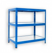 Steckregal blau 35 x 75 x 120 cm - 3 Metalböden x 120 kg