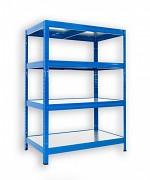 Steckregal blau 35 x 60 x 120 cm - 4 Metalböden x 120 kg