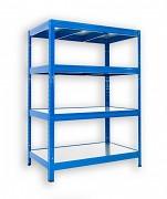 Steckregal blau 35 x 90 x 120 cm - 4 Metalböden x 120 kg