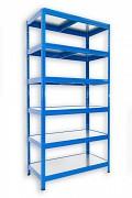 Steckregal blau 35 x 75 x 180 cm - 6 Metalböden x 120 kg