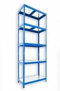 Steckregal blau 50 x 75 x 210 cm - 5 Metalböden x 120 kg
