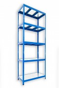 Steckregal blau 50 x 90 x 210 cm - 5 Metalböden x 120 kg