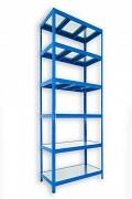 Steckregal blau 35 x 120 x 210 cm - 6 Metalböden x 120 kg