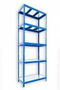 Steckregal blau 60 x 120 x 240 cm - 5 Metalböden x 120 kg