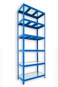 Steckregal blau 60 x 120 x 240 cm - 6 Metalböden x 120 kg