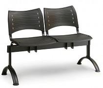 Wartezimmerbank - Kunststoff Visio Biedrax LC9284C - Gestell schwarz