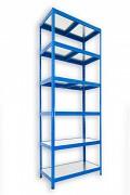 Steckregal blau 35 x 75 x 270 cm - 6 Metalböden x 120 kg