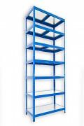 Steckregal blau 35 x 60 x 270 cm - 7 Metalböden x 120 kg