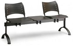 Wartezimmerbank - Kunststoff Visio Biedrax LC9285C - Gestell schwarz
