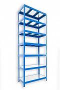 Steckregal blau 45 x 90 x 270 cm - 7 Metalböden x 120 kg