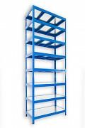 Steckregal blau 45 x 90 x 270 cm - 8 Metalböden x 120 kg