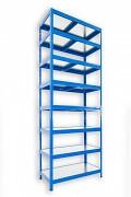 Steckregal blau 50 x 75 x 270 cm - 8 Metalböden x 120 kg