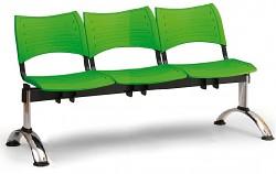 Wartezimmerbank - Kunststoff Visio Biedrax LC9292Z - Gestell verchromt