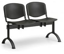 Wartezimmerbank - Kunststoff ISO Biedrax LC9680C - Gestell schwarz