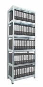 Aktenregal mit Metallböden 40 x 60 x 210 cm, 6 fachböden x 100 kg