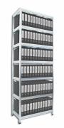 Aktenregal mit Metallböden 40 x 60 x 270 cm, 7 fachböden x 100 kg
