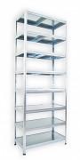 Steckregal verzinkt 45 x 60 x 210 cm - 8 Metallböden x 120 kg