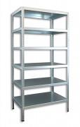Schraubregal Biedrax 40 x 100 x 300 cm, 6 Fachböden - verzinkt