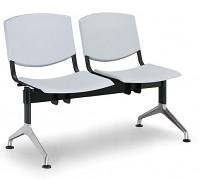 Wartezimmerbank - Kunststoff Smile Biedrax LC9952S - Gestell aluminium poliert