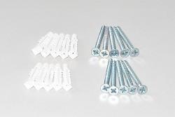 Verankerungsmaterial für Wandregal Anbauregal -  Höhe 200 cm