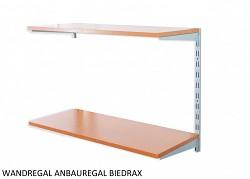 Wandregal - Anbauregal 35 x 80 x 50 cm, 2 Fachboden - Farbe silber, Boden Kirsche