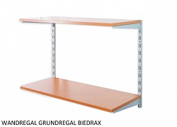 Wandregal - Grundregal 50 x 40 x 50 cm, 2 Fachboden - Farbe silber, Boden Kirsche
