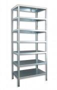 Schraubregal Aktenregal Biedrax 45 x 100 x 250 cm, 7 Fachböden - verzinkt