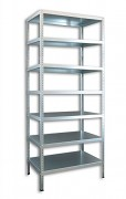 Schraubregal Aktenregal Biedrax 50 x 100 x 250 cm, 7 Fachböden - verzinkt