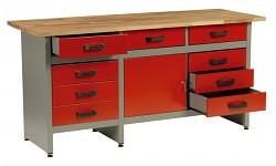 Werkbank für Werkstatt - Biedrax PS5805CV - rot