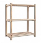 Holzregale Holzlatten 60 x 75 x 90 cm, 3 Fachböden