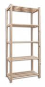 Holzregale Holzlatten 60 x 75 x 170 cm, 5 Fachböden