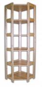 Holzregal Massivholz Eckregal 60 x 60 x 204 cm, 6 Fachböden