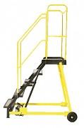 Fahrbare Trittleitern - Treppe Mit Gegenausrutschband, 9 Tritten - ZP4610 Biedrax