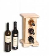 Weinregal aus Holz für 3 Flaschen - SV3