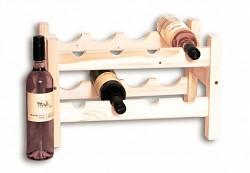 Weinregal aus Holz für 8 Flaschen - SV8