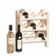 Weinregal aus Holz für 9 Flaschen - SV9