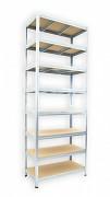 Steckregal verzinkt 45 x 90 x 270 cm - 8 Fachböden x 275kg