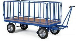 Große Plattformwagen Biedrax PV1580 - Seiten aus Metallrohren