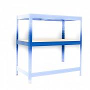 Komplette Fachboden für Metallregal, 45 x 90 cm - blau, 175 kg pro Boden
