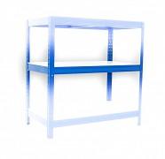 Komplette Fachboden (weiss) für Metallregal, 35 x 90 cm - blau, 175 kg pro Boden
