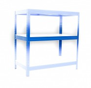 Komplette Fachboden (weiss) für Metallregal, 50 x 90 cm - blau, 275 kg pro Boden