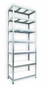 Metallregal mit Weißböden 45 x 120 x 270 cm - 7 Fachböden x 175 kg, verzinkt