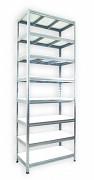 Metallregal mit Weißböden 60 x 90 x 270 cm - 8 Fachböden x 275 kg, verzinkt