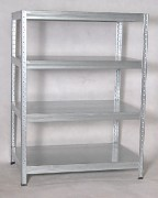 Metallregal mit Metallböden verzinkt 35 x 90 x 120 cm, 175 kg pro Boden