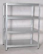 Metallregal mit Metallböden verzinkt 45 x 90 x 120 cm, 175 kg pro Boden