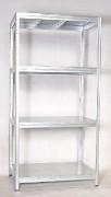 Metallregal mit Metallböden verzinkt 60 x 90 x 180 cm, 175 kg pro Boden